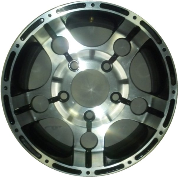 12x7 5 on 4.5 Aluminum Wheel - Click Image to Close