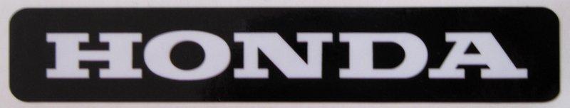 Black and White Honda Sticker - Click Image to Close
