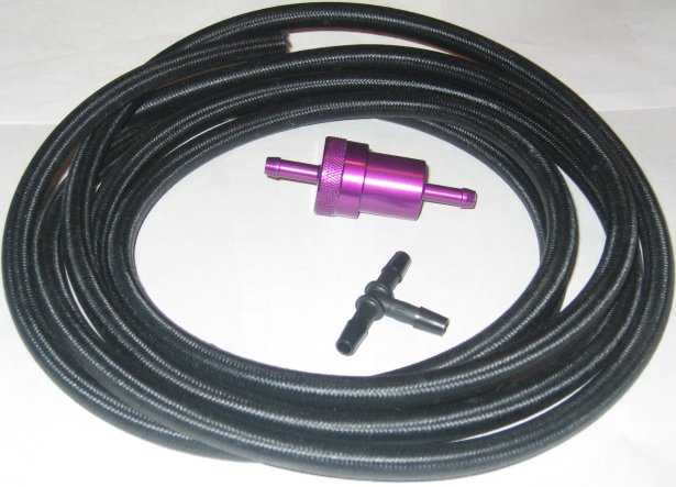 Fuel Line Kit with Aluminum Filter - Click Image to Close